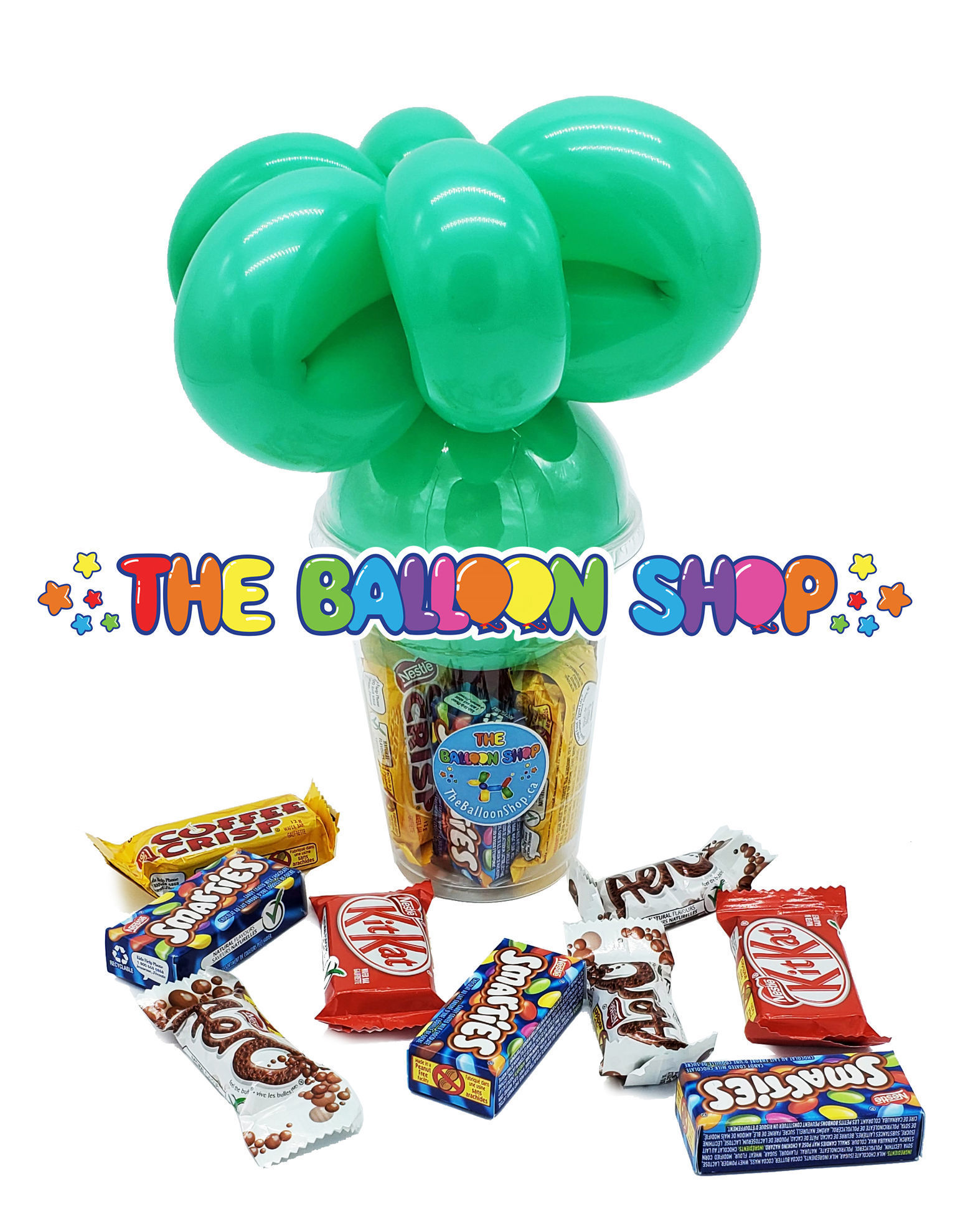 Picture of Cat Heart Face - Balloon Candy Cup