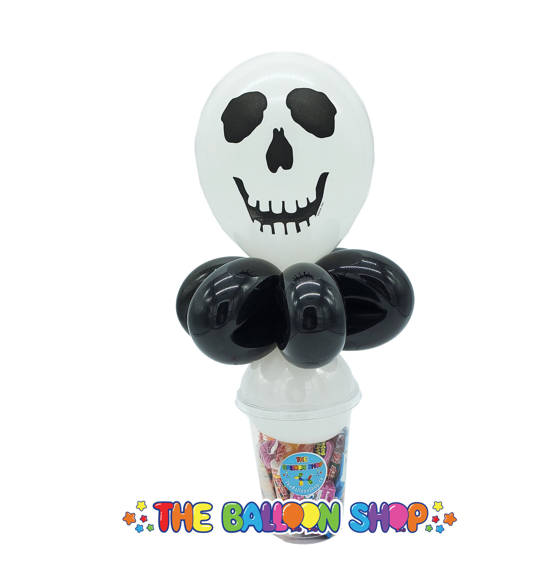 Picture of Skull Face  - Balloon Candy Cup