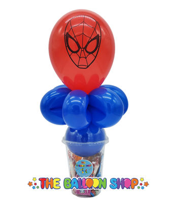 Picture of Spider-Man Face  - Balloon Candy Cup
