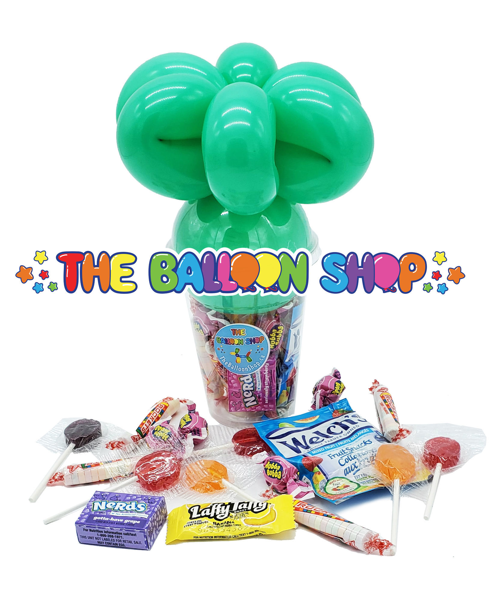 Picture of Alien Face  - Balloon Candy Cup