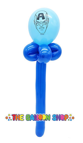 Picture of Captain America Face Wand - Balloon