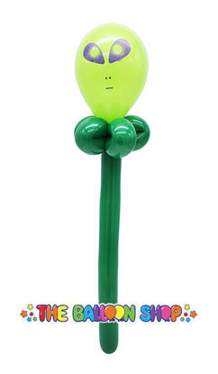 Picture of Alien Face Wand - Balloon