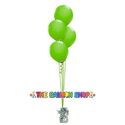 Picture of 11 Inch Helium Balloon Bouquet of 4