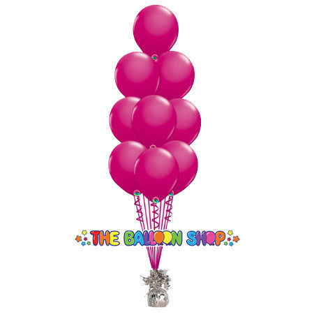 Picture of 11 Inch Helium Balloon Bouquet of 9