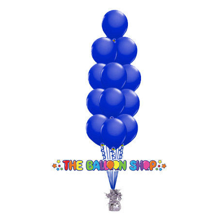Picture of 11 Inch Helium Balloon Bouquet of 12