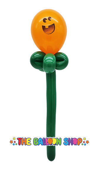 Picture of Jack O'Lantern Face Wand - Balloon