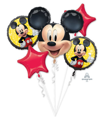 Picture of Balloon Bouquet - Mickey Mouse Forever Foil Balloons (5 pc)