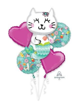 Picture of Selfie Celebration Mermaid - Foil Balloon Bouquet (5 pc)