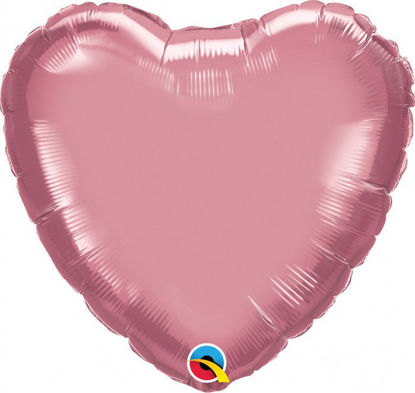"Picture of 18"" Chrome Mauve Heart  (helium-filled)"