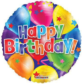 Picture of 18''Happy Birthday Balloon Print Foil Balloon (helium-filled)
