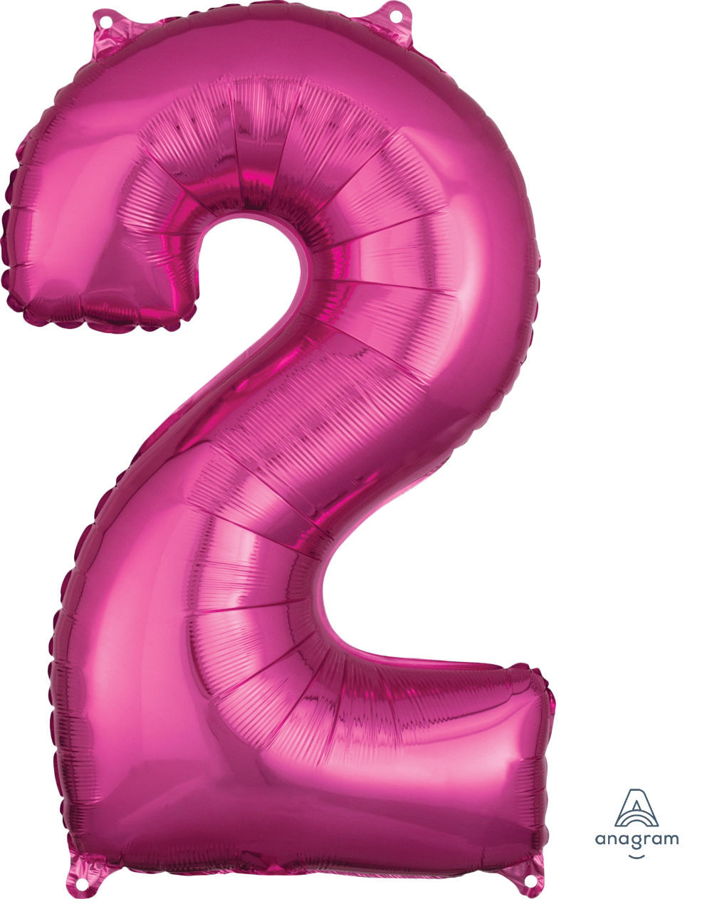 Picture of 26''Hot Pink Number 2 - Foil Balloon (helium-filled)