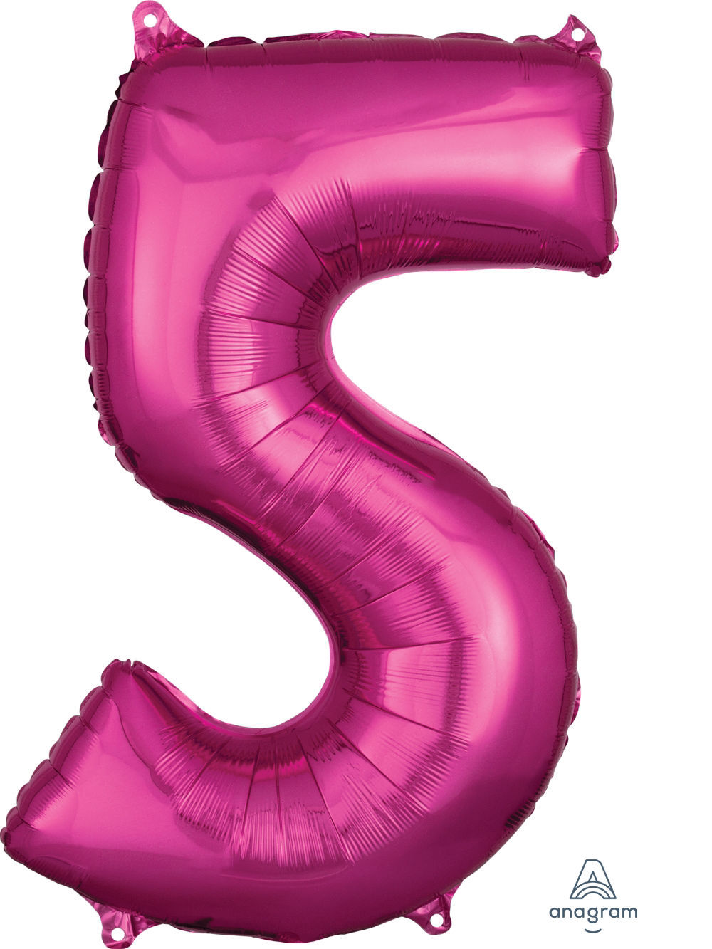 Picture of 26''Hot Pink Number 5 - Foil Balloon (helium-filled)