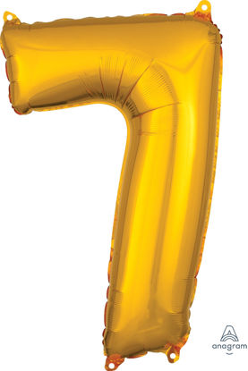 Picture of 26'' Gold Number 7 - Foil Balloon (helium-filled)
