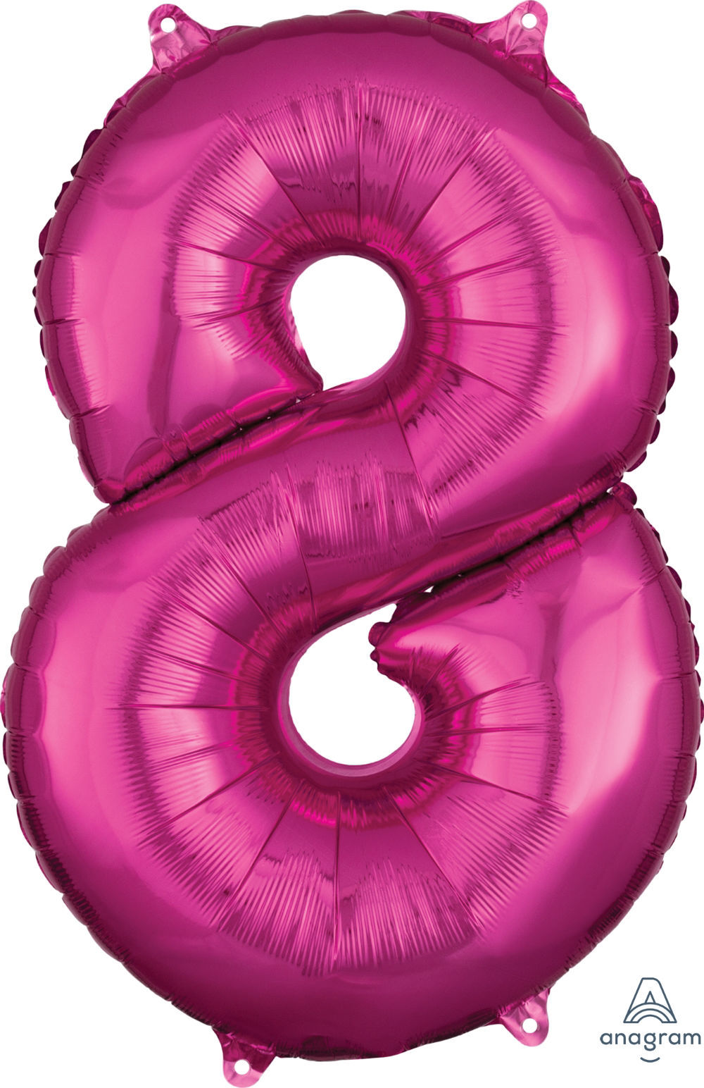 Picture of 26''Hot Pink Number 8 - Foil Balloon (helium-filled)