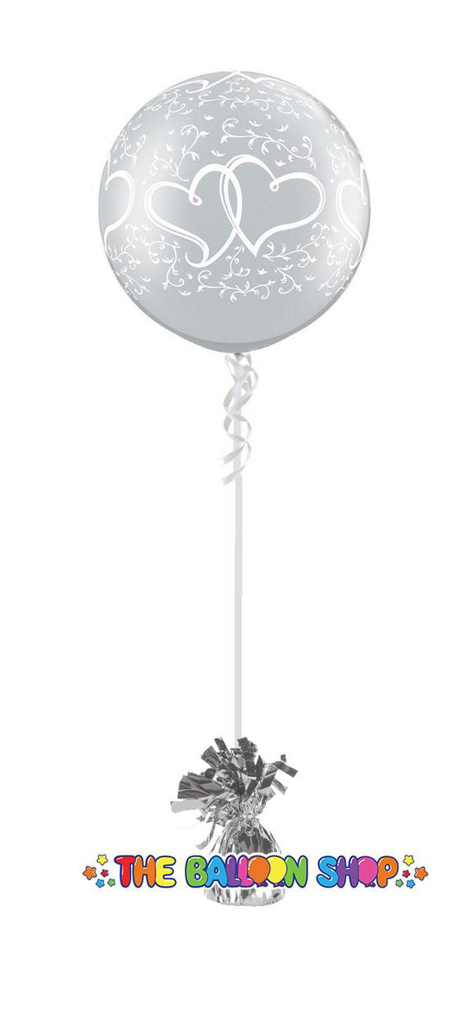 Picture of Clear Wedding Heart 3FT  Giant Balloon (helium-filled)