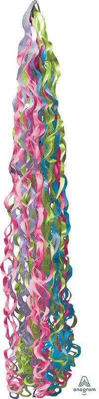 Picture of Twirlz Tissue Balloon Tail 34'' - Jewel Tones (1 pc)