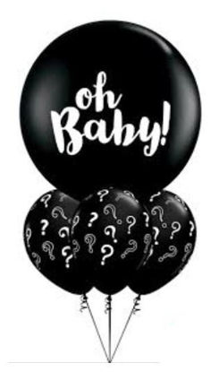 Picture of Oh Baby! Gender Reveal Balloon Bouquet (helium-filled)