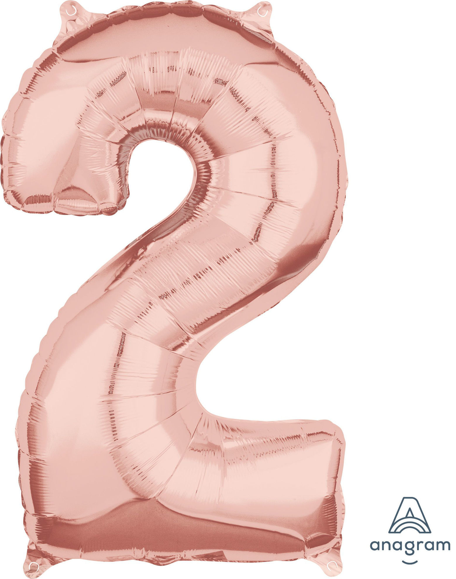 Picture of 26'' Rose Gold Number 2 - Foil Balloon (helium-filled)