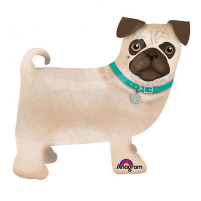 Picture of 19'' Precious Pug  - Air Walker Balloon Buddies (helium - filled)