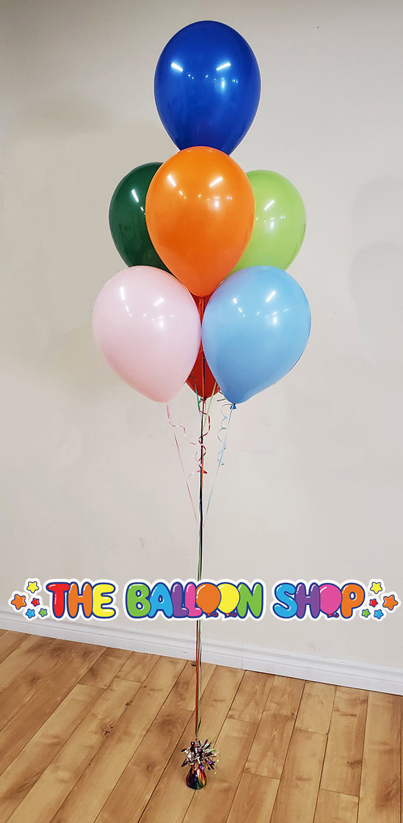 Picture of 11 Inch Helium Balloon Bouquet of 7 (Stacked)