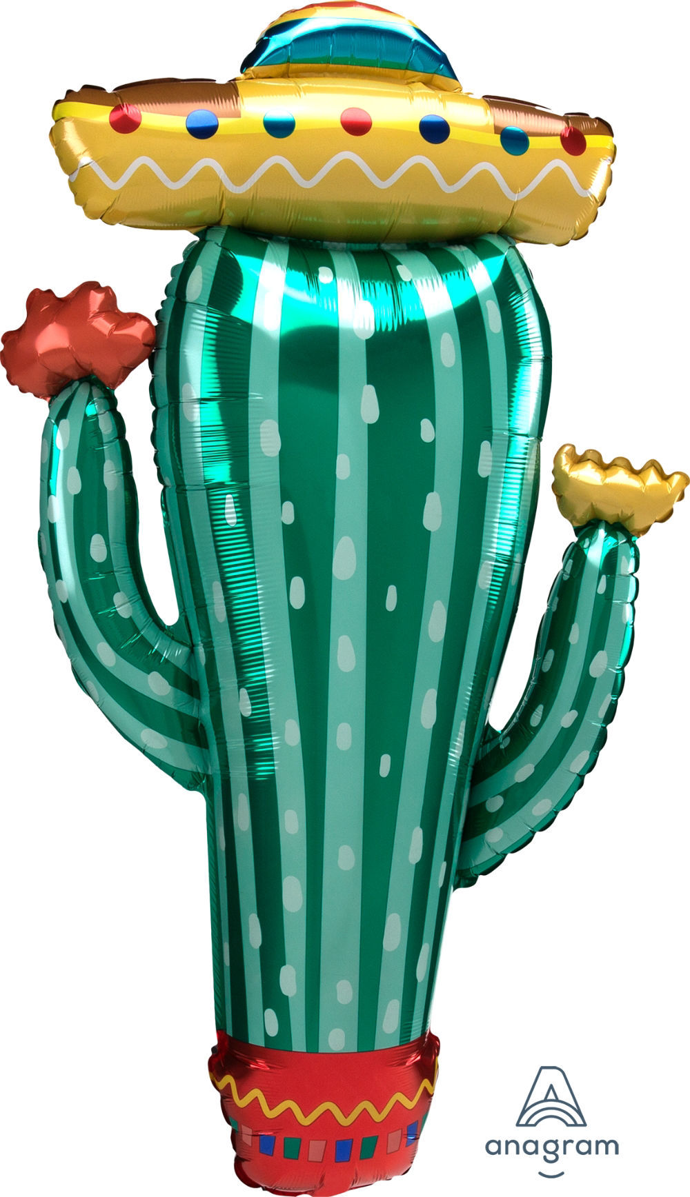 "Picture of 38""  Fiesta Cactus Foil Balloon  (helium-filled)"