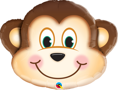 "Picture of 35"" Mischievous Monkey Foil Balloon  (helium-filled)"