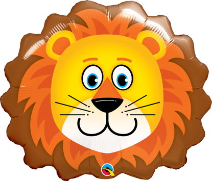 "Picture of 29"" Lovable Lion Foil Balloon  (helium-filled)"