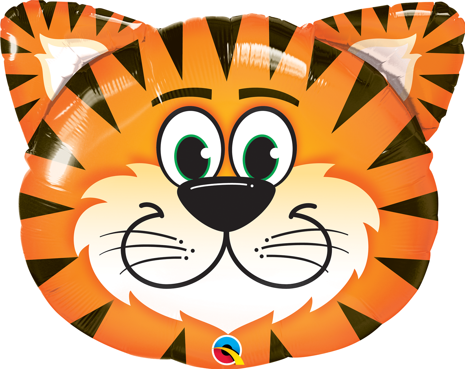 Picture of 30'' Tickled Tiger Foil Balloon  (helium-filled)