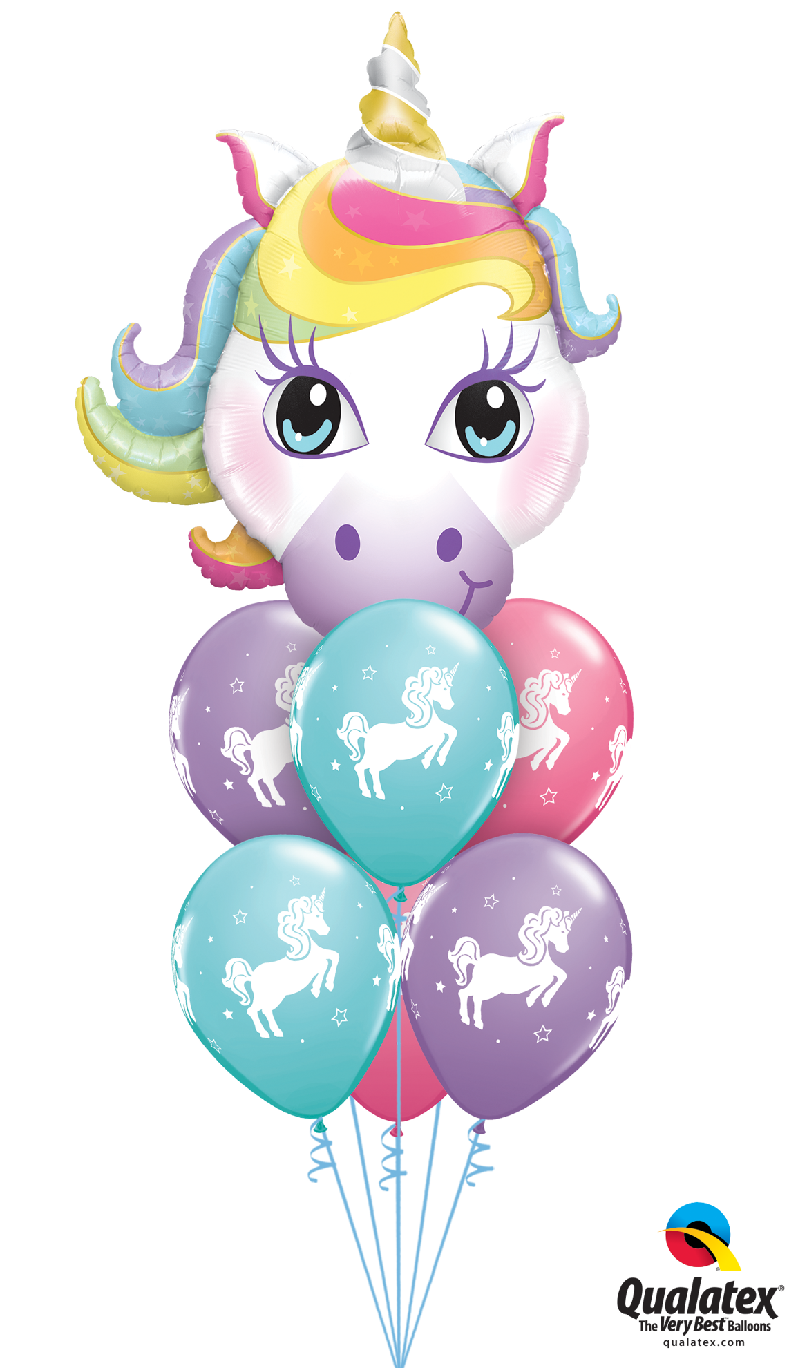 Picture of Balloon Bouquet -  Magical Whimsical Unicorn (7pc)