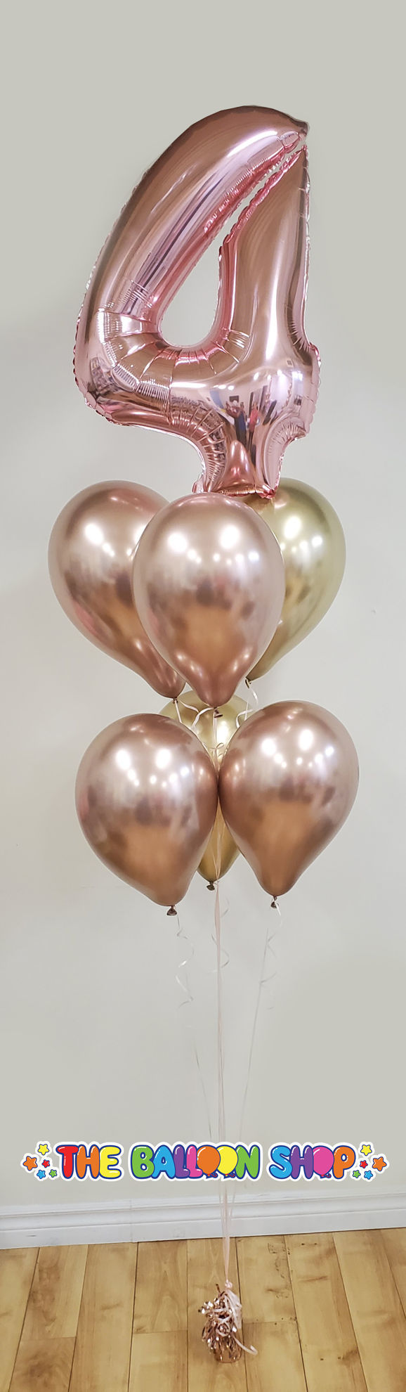 Picture of Custom Chrome Balloon Bouquet with Number