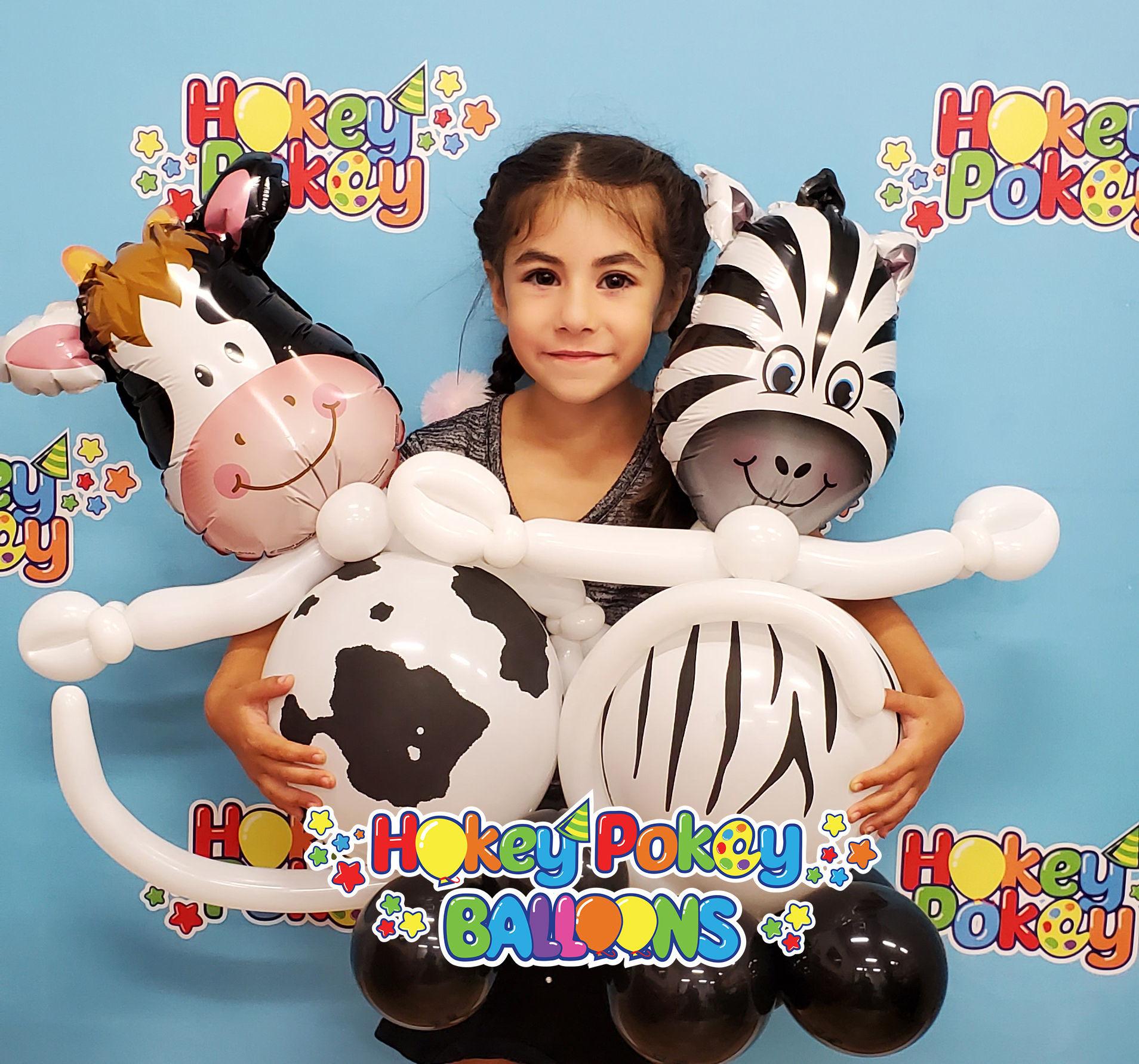 Picture of Mini Zany Zebra - Balloon Centerpiece