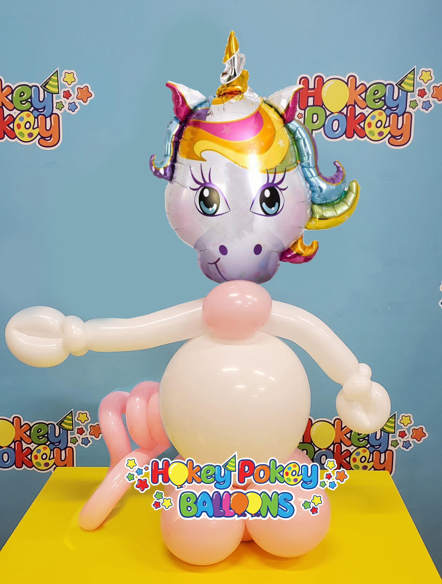 Picture of Mini Magical Unicorn - Balloon Centerpiece