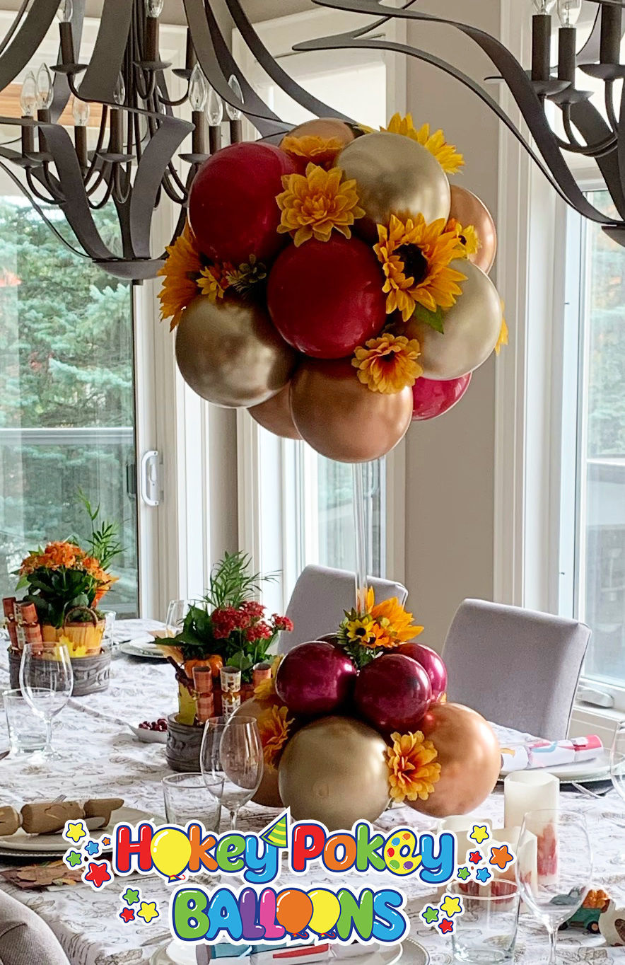 Picture of 12 Balloon Fall Magic Topiary - Balloon Centerpiece (air inflated) - copy