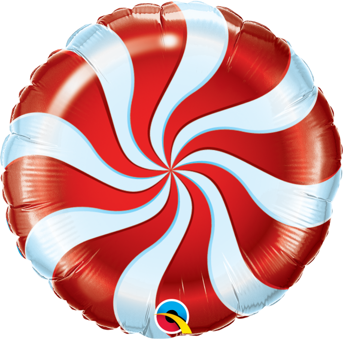 Picture of Festive Candy Swirl Balloon Bouquet of 9  (Helium)