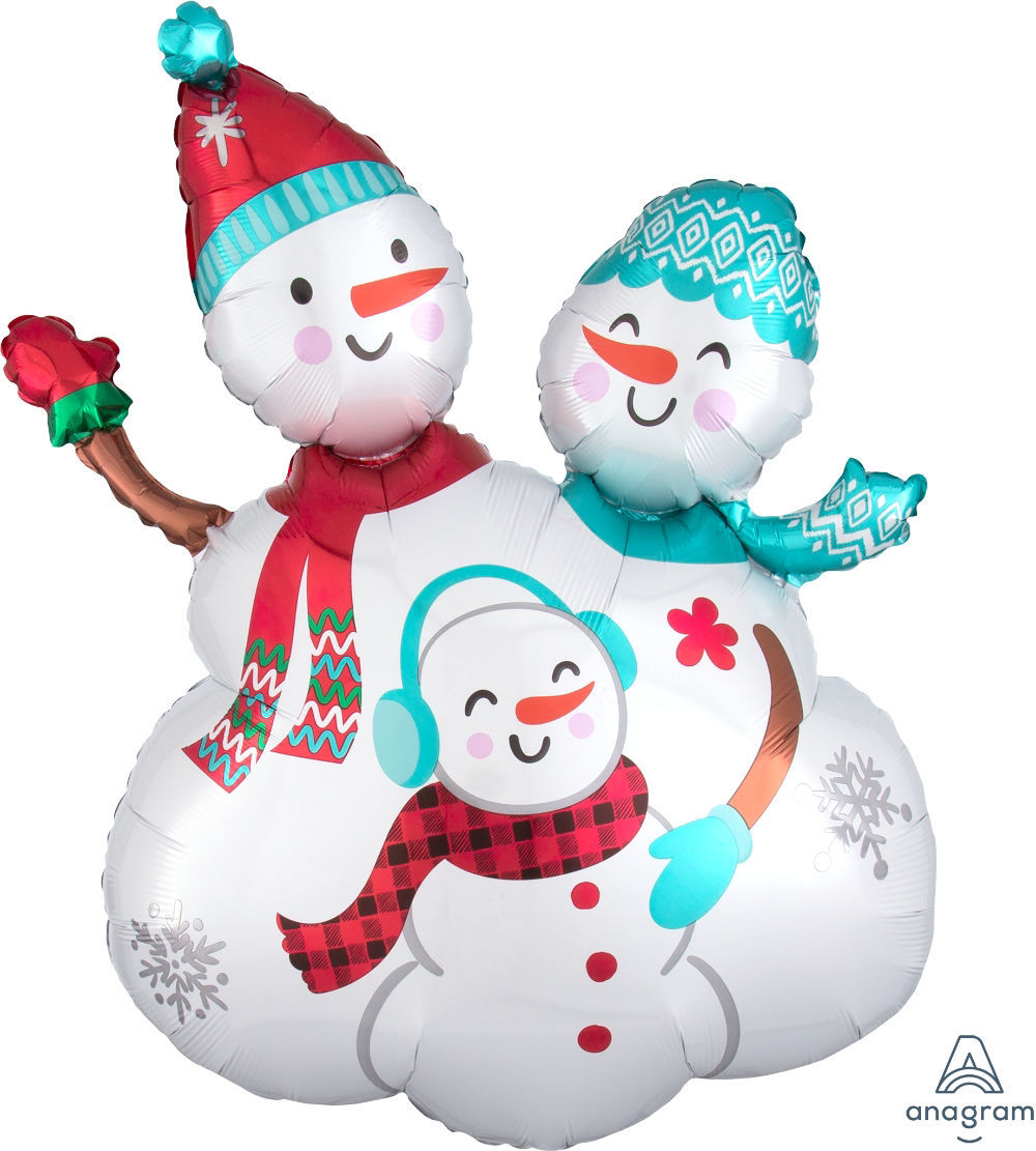 """Picture of 31""""  Snow Family Foil Balloon (helium-filled)"""