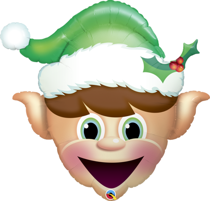 """Picture of 35"""" Christmas Elf Foil Balloon (helium-filled)"""