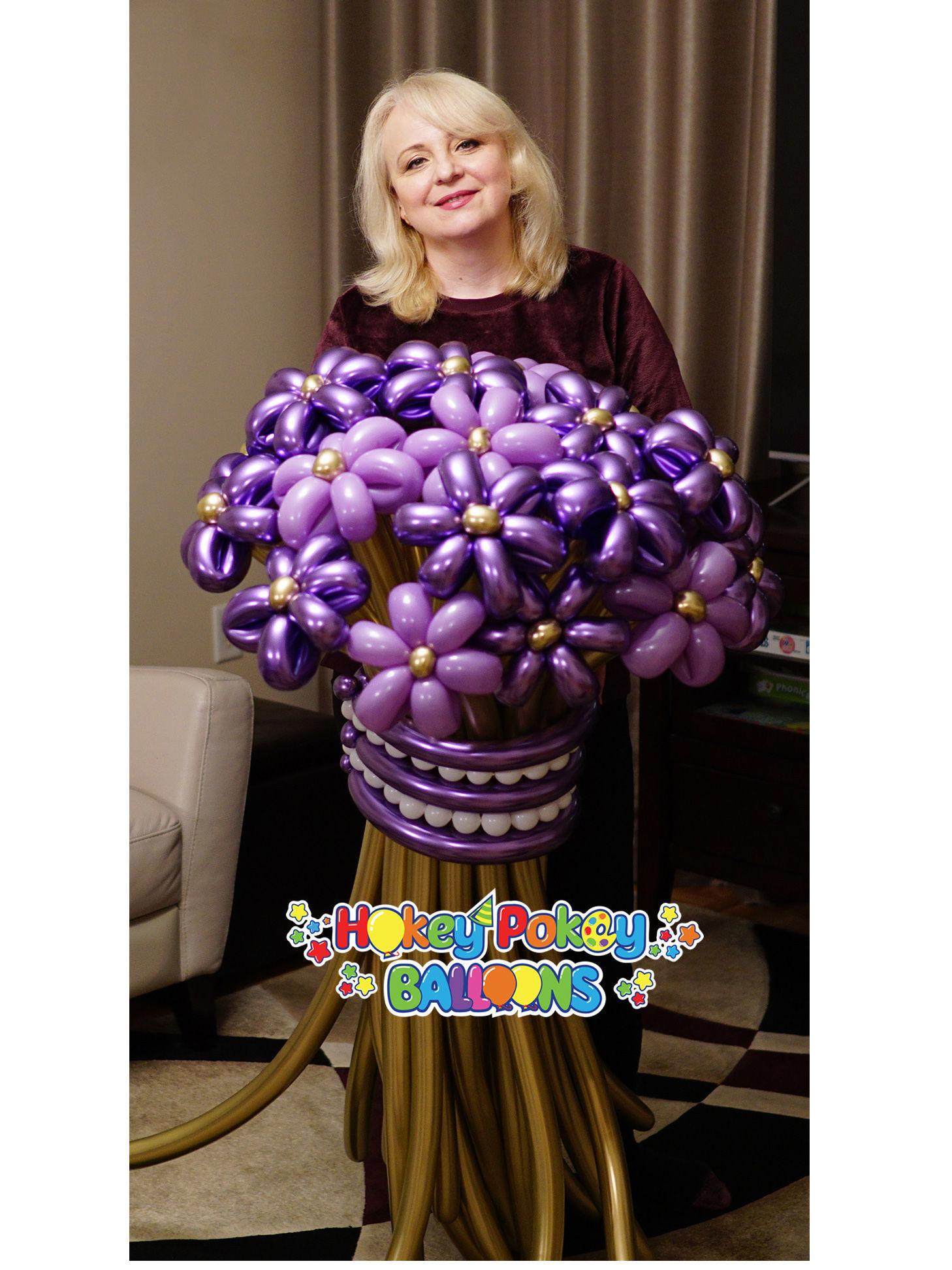 Picture of Premium Flower Balloon Bouquet (21 pc)