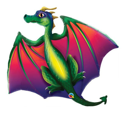 "Picture of 45"" Mythical Dragon Jumbo Foil Balloon (helium-filled)"