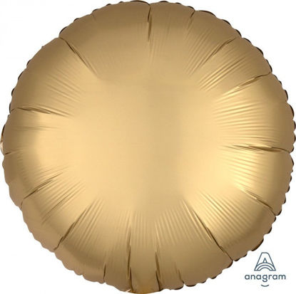 """Picture of 18"""" Satin Luxe Gold Circle Foil Balloon (helium-filled)"""