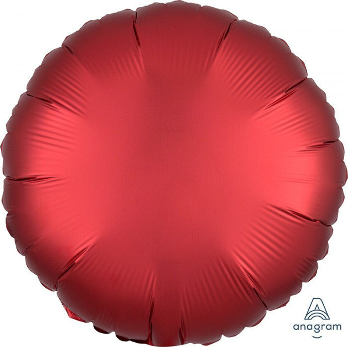 "Picture of 18"" Satin Luxe Sangria Circle Foil Balloon (helium-filled)"