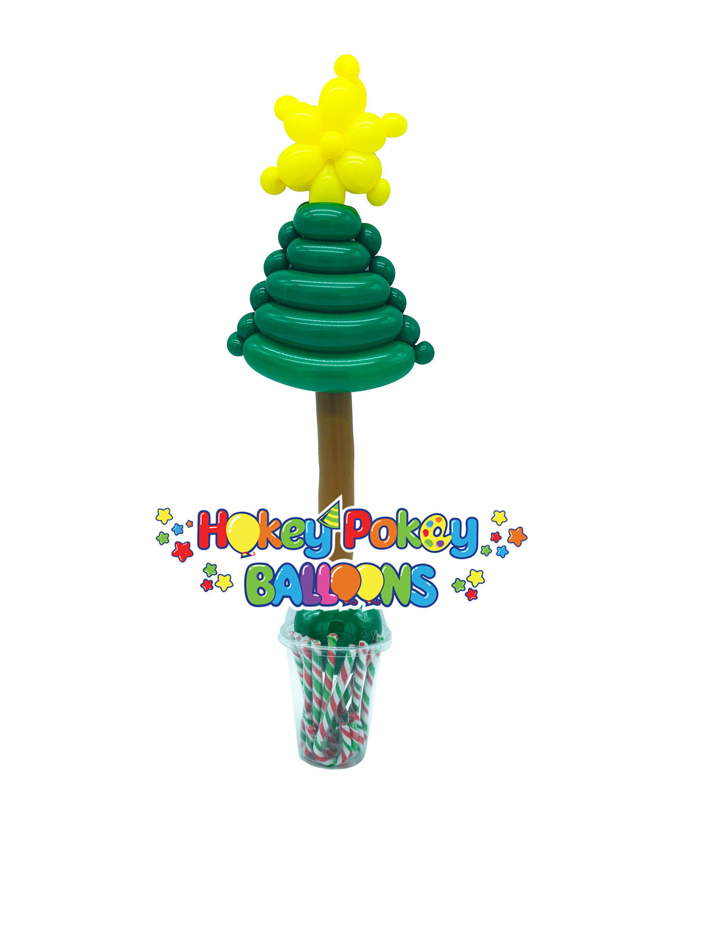 Picture of Christmas Tree with Star - Balloon Candy Cup