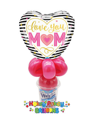 Picture of Love You M(Heart)M Stripes Heart  - Balloon Candy Cup