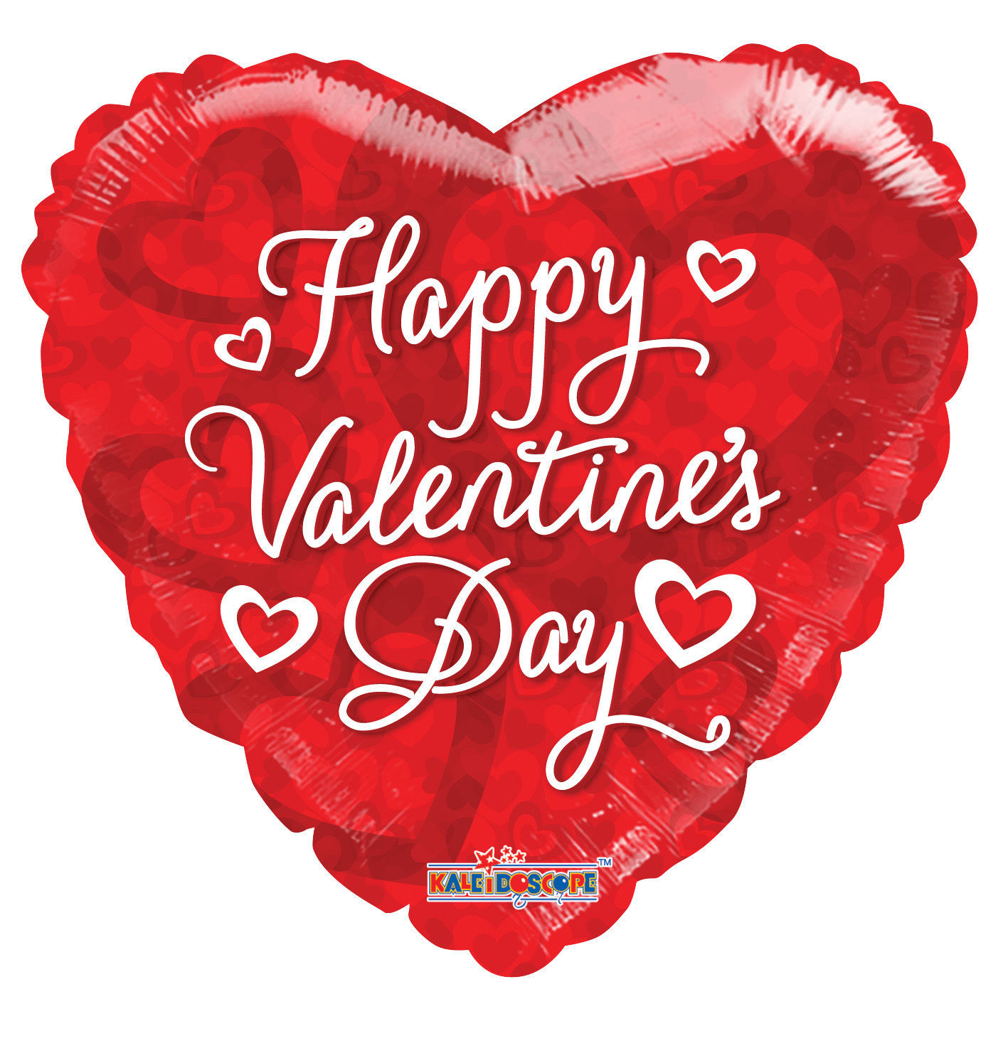 """Picture of 18"""" Happy Valentine's Day Red Heart -  Foil Balloon  (helium-filled)"""