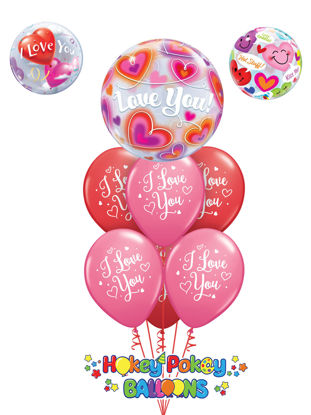 Picture of I love You with Topper Balloon Bouquet of 7
