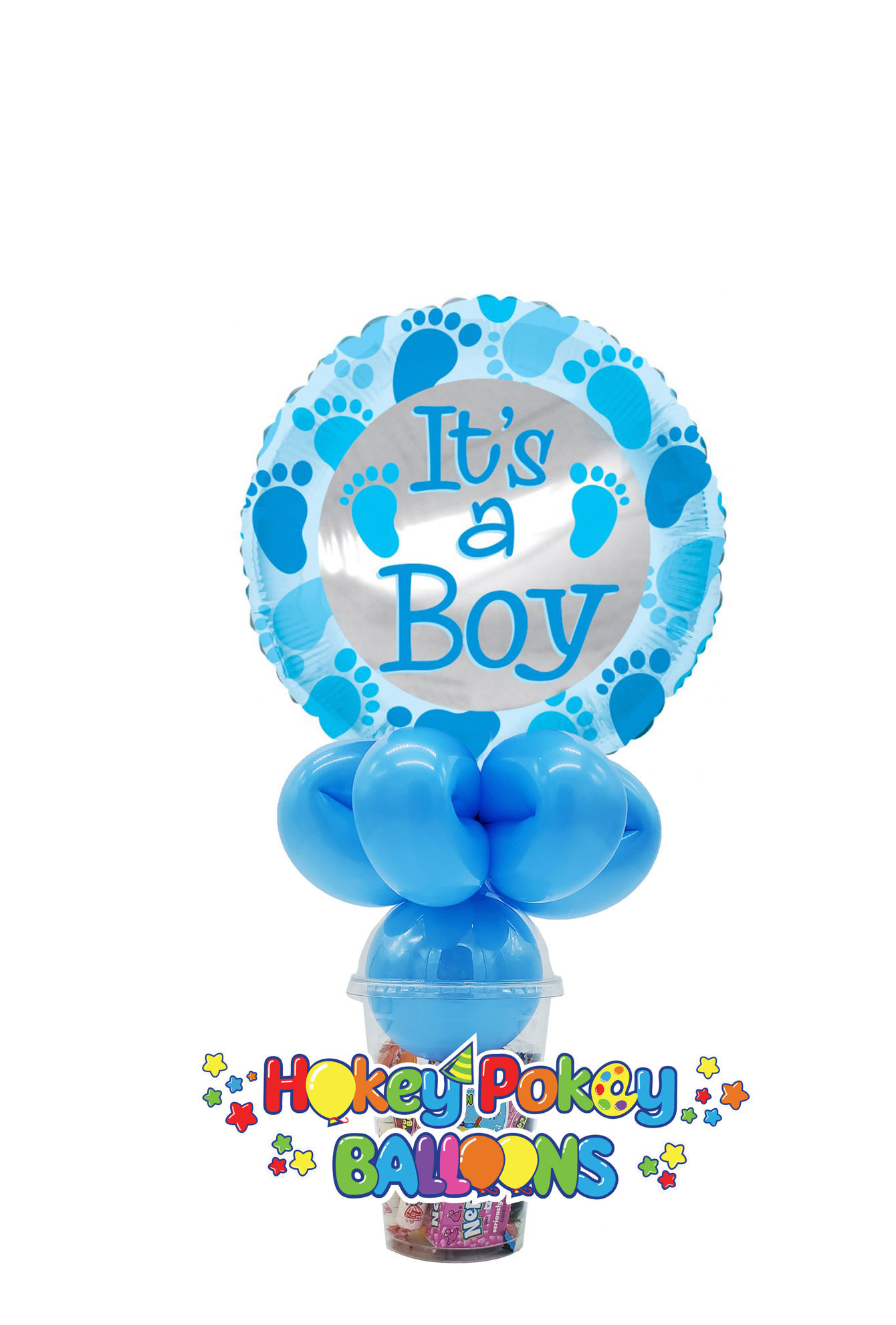Picture of It's a Boy - Baby Blue Foot Prints - Balloon Candy Cup