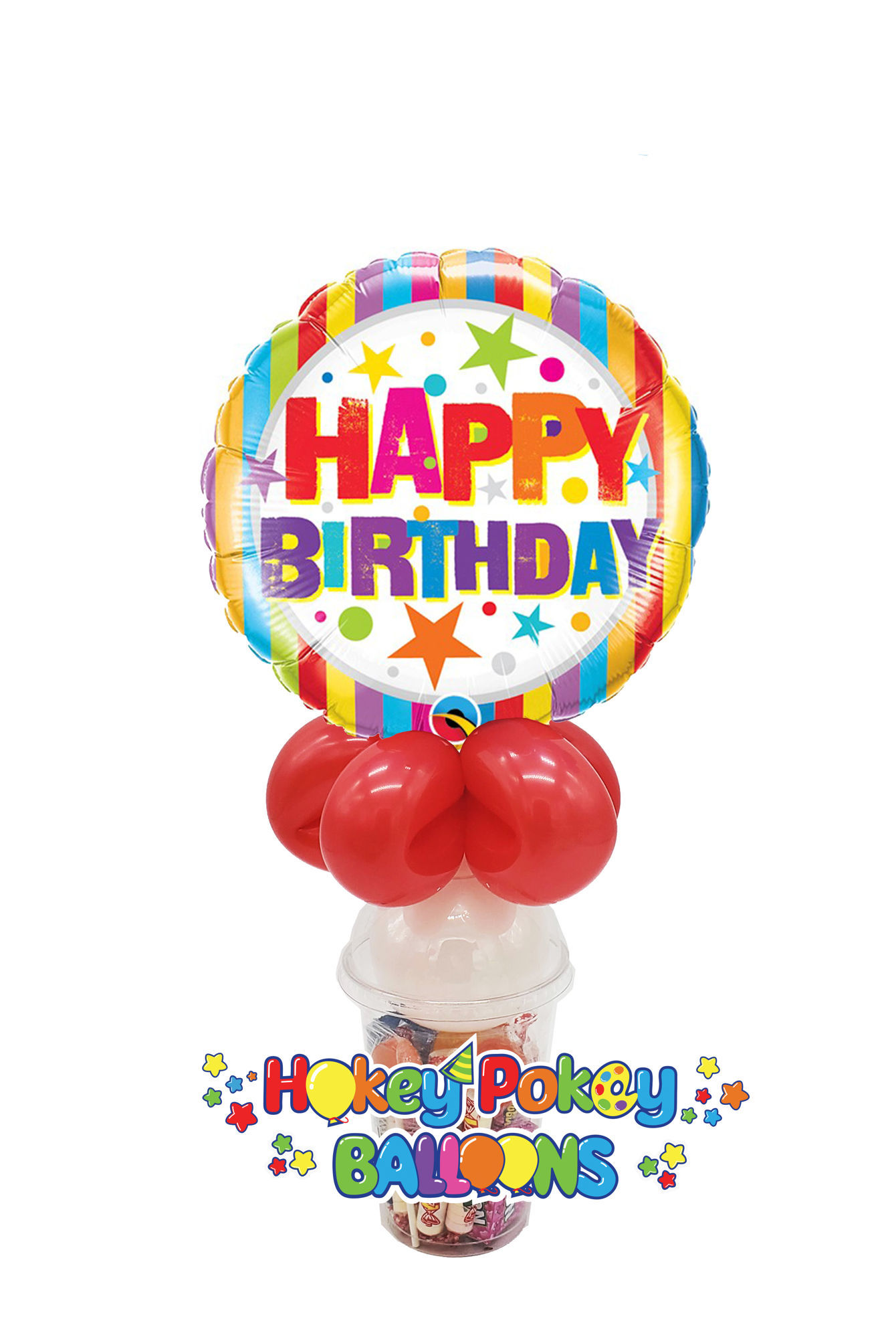Picture of Birthday Stripes and Stars - Balloon Candy Cup