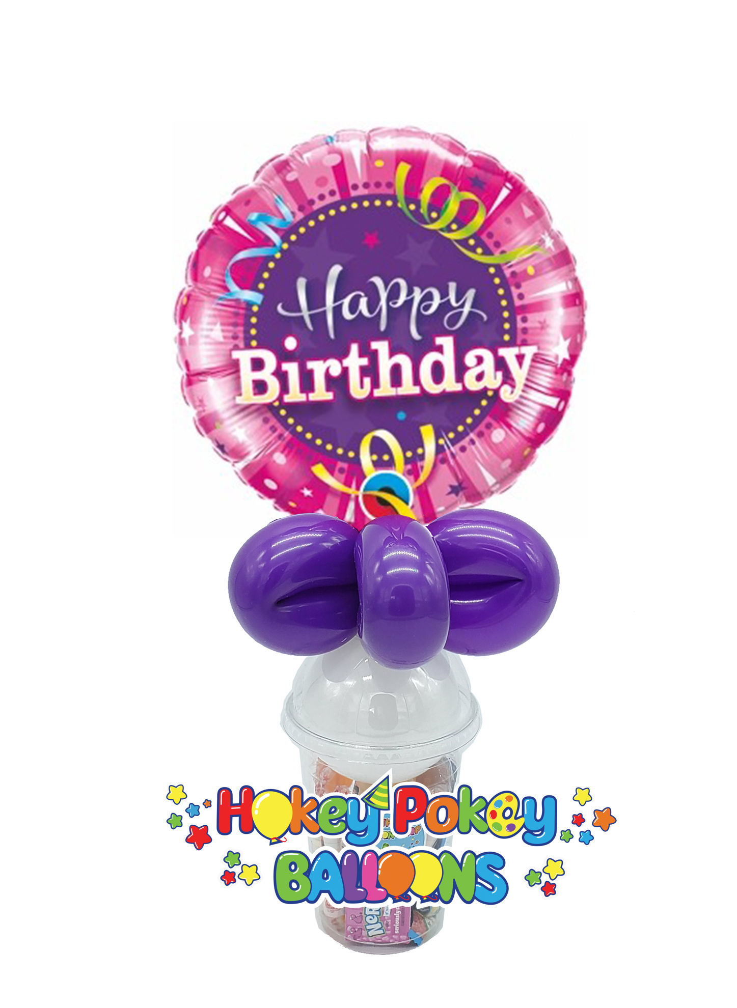 Picture of Birthday Hot Pink - Balloon Candy Cup