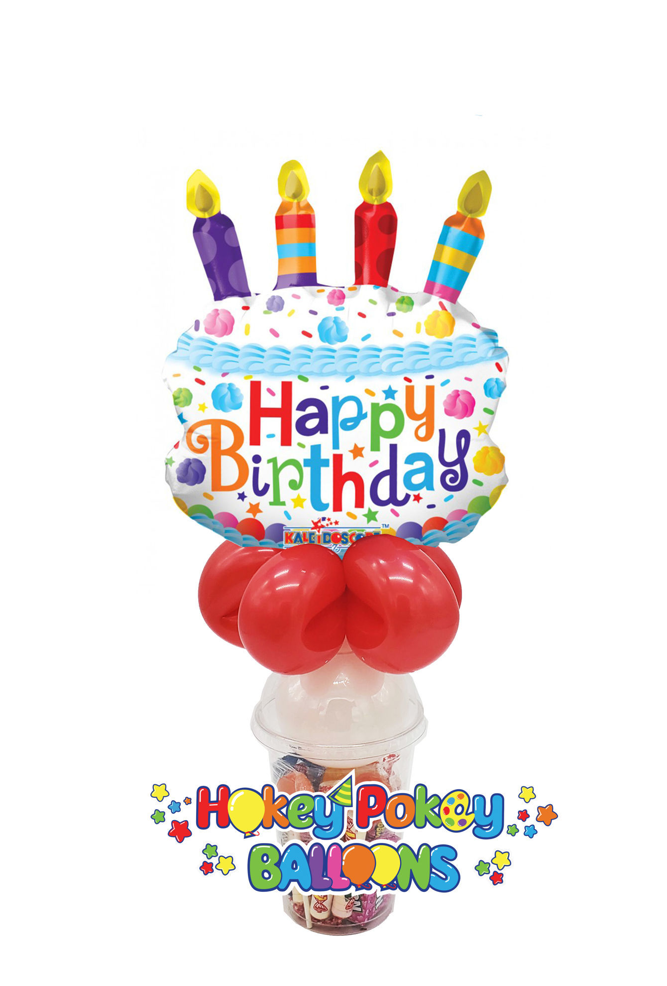 Picture of Birthday Cake - Foil Balloon Candy Cup