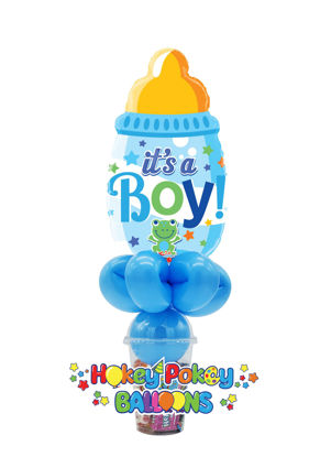 Picture of It's a Boy Baby Bottle Blue - Foil Balloon Candy Cup