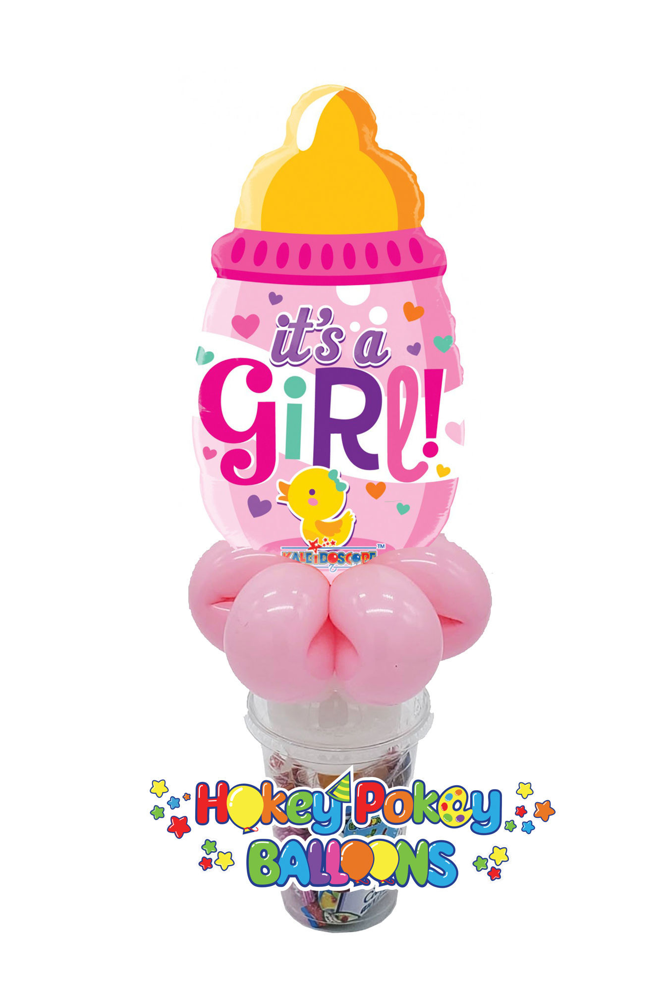 Picture of It's a Girl Baby Bottle Blue - Foil Balloon Candy Cup